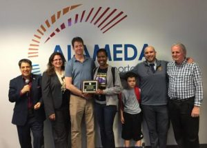 people from malcom x elementary recieve award from Alameda CTC