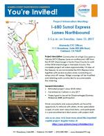 Invitation flyer for the 680 North Express Contracting Information Meeting
