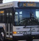 front of AC transit bus
