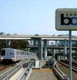 BART train on the tracks