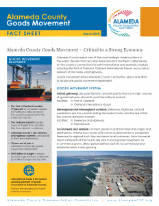 Alameda County Goods Movement Fact Sheet