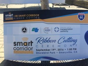 I80 SMART Corridor Ribbon Cutting Sign