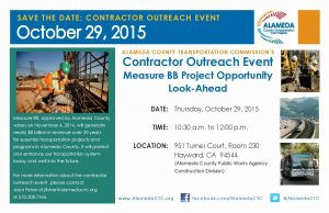 Save the date for October 29th, 2015 from 10:30am to 12:00pm