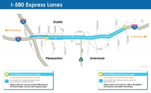 I-580 Express Lanes Map