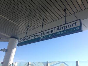 sign for the oakland international airport