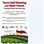 town hall meeting and open house flyer