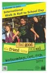 walk and roll to school day flyer