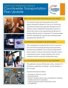 image of documents for the countywide transportation plan update. link to pdf is in the article.