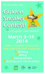 golden sneaker contest flyer with a five point star