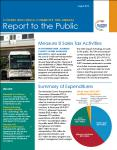 image of the first page of the 10th annual report to the public