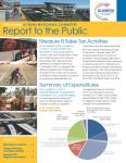 image of first page of watchdog committee's annual report to the public from 2014
