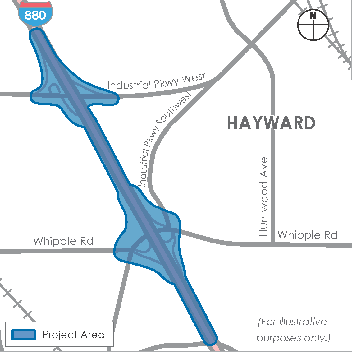 Public Informational Meetings for the Interstate 880 Interchange Improvements (Whipple Road/Industrial Parkway Southwest and Industrial Parkway West) Project