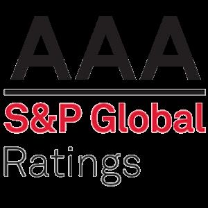 S&P Global logo, AAA rating