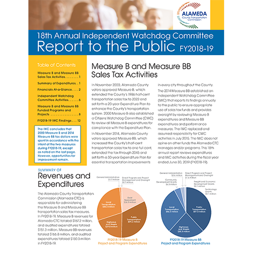 Independent Watchdog Committee Releases Its 18th Annual Report to the Public